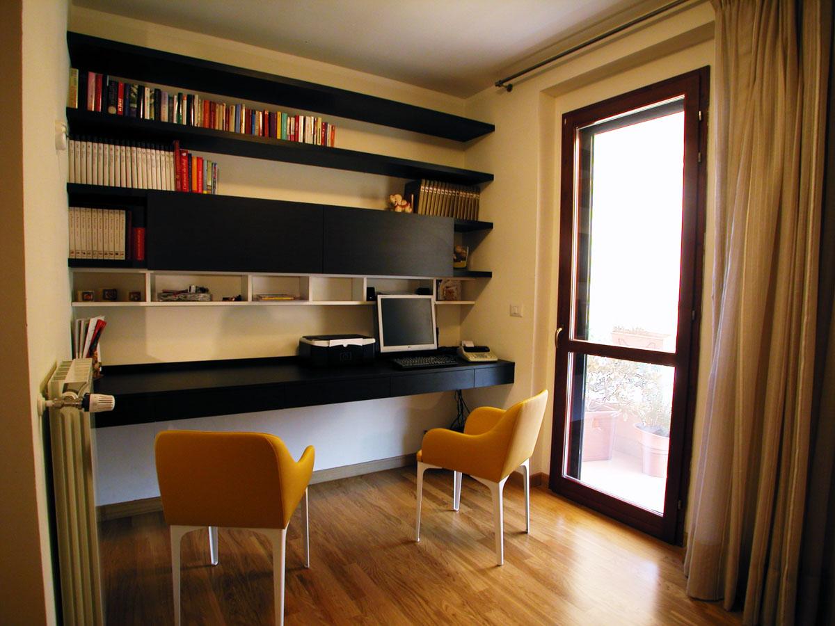Scrivania e Libreria Falegnameria - Fedeli Arredamenti